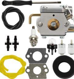 get quotations dalom wt 827 carburetor w air filter fuel line for troy bilt 753  [ 1000 x 1000 Pixel ]
