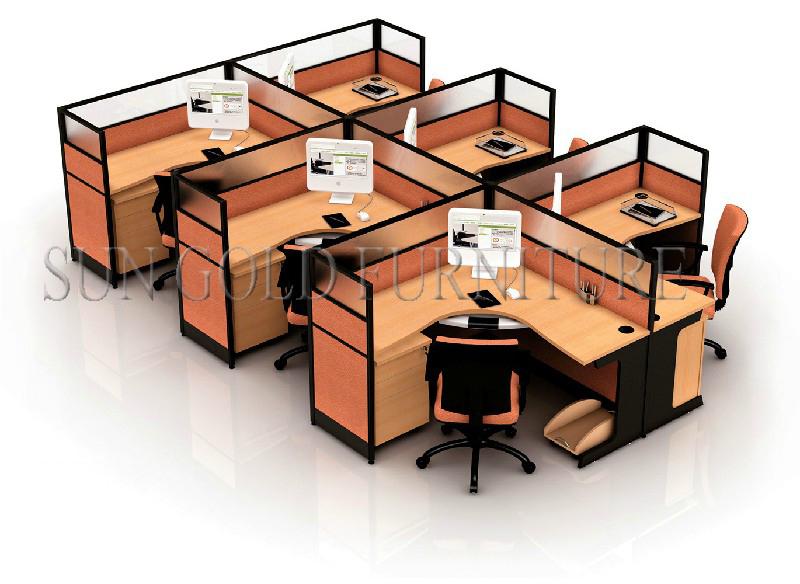 Office Furniture 4 Person Desk