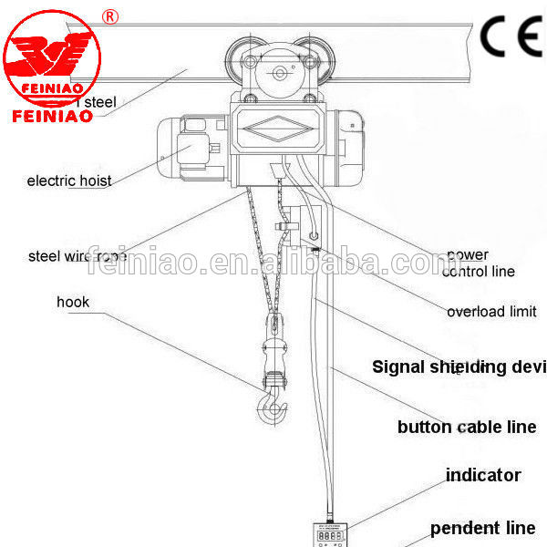 Hot Sall Pa Mini Wire Rope Electric Hoist 110v With Rope