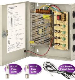 get quotations cctv power supply box zoter 4 port channel 5a distribution fuse ac 110 240v [ 1500 x 1500 Pixel ]