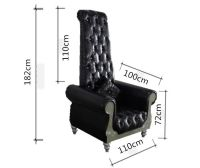 Black Leather Throne Chair,High Back King Chair,Royal ...