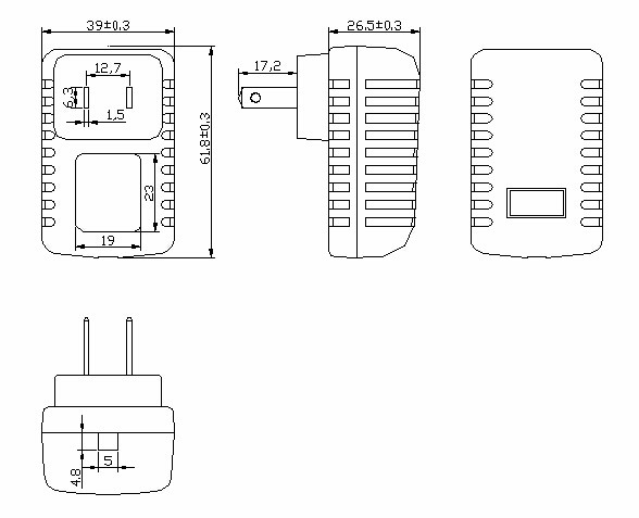 Shenzhen Mass Power Ac Adapter 35v 500ma 17v 400ma Ac Dc