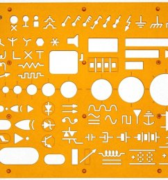 electrical and electronic installation symbols drawing template stencil engineering drafting supplies layout plan schematic [ 1500 x 848 Pixel ]
