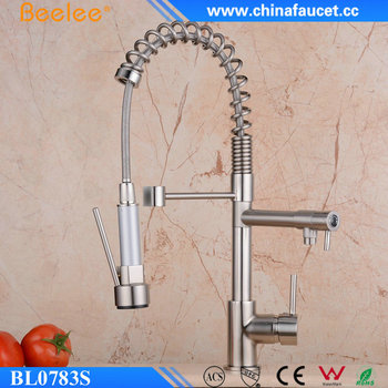 brushed nickel kitchen faucet with sprayer cheap appliances beelee bl0783sn single handle dual spout pull out