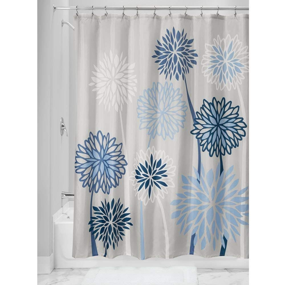 cheap blue and gray shower curtain