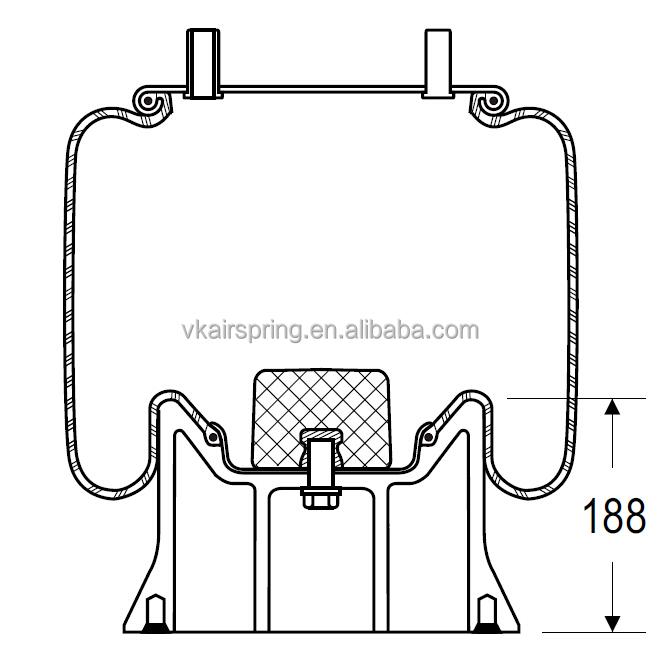 1R12-256 VKNTECH 1K9321 air suspension spring system for