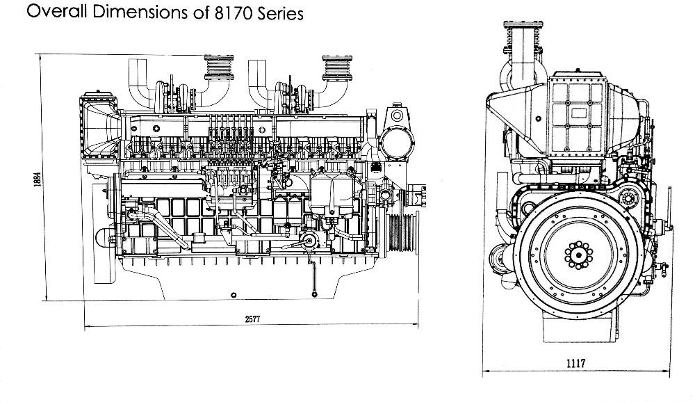 Weichai Power 8170 Series Marine Diesel Engine(600hp-800hp