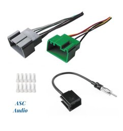 asc audio car stereo radio wire harness and antenna adapter to install an aftermarket radio for [ 1200 x 1322 Pixel ]