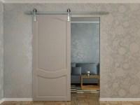 4-panel Soild Wood Interior Barn Door With Barn Door Kits ...