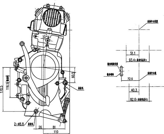Daytona 190/150cc anima 4 valve FLX FDX engine, View