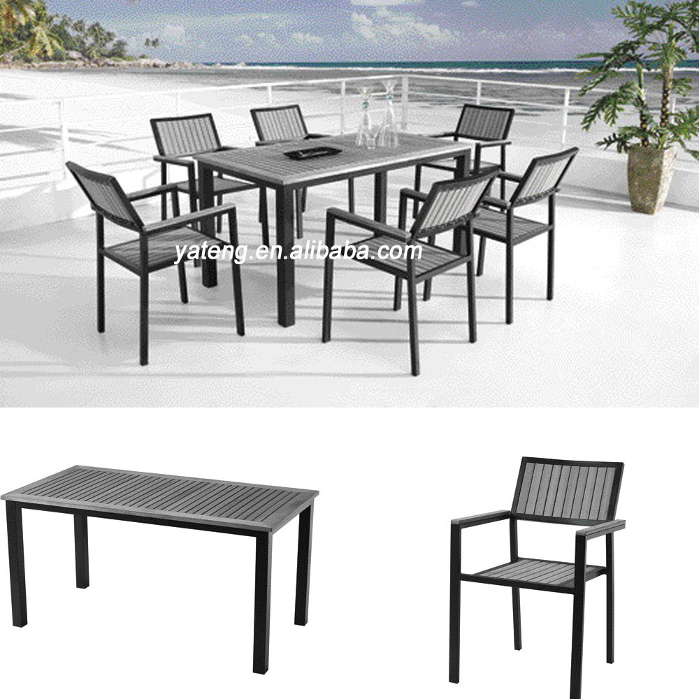 Outdoor Table And Chair Set Best Price Grey Color Home Outdoor Deck Furniture Tables Plastic Wooden Dining Table Chair Set Wooden Furniture Buy Home Deck Furniture Plastic