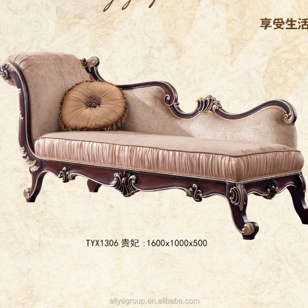 Tyx601-european Style Antique Chaise Lounge Sofa Chair Bedroom Furniture