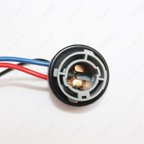 small resolution of byopto 2 pcs 1157 bay15d female nylon car auto truck headlight fog brake turn