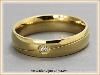 New Product 18k Gold Antiallergy Ring Men Simple Single