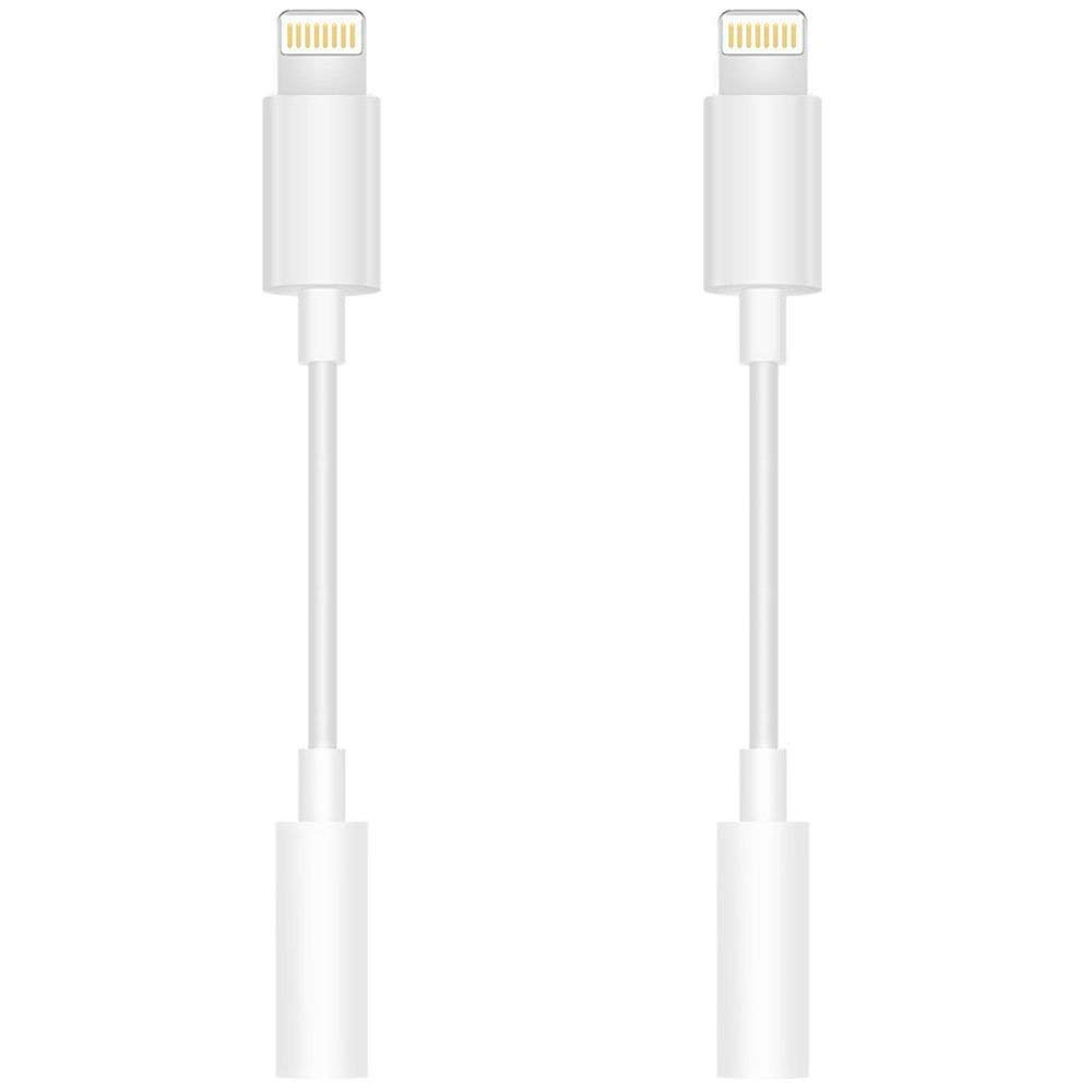 hight resolution of 2 pack lighting to 3 5mm headphone jack adapter headphone adapter compatible phone x 10