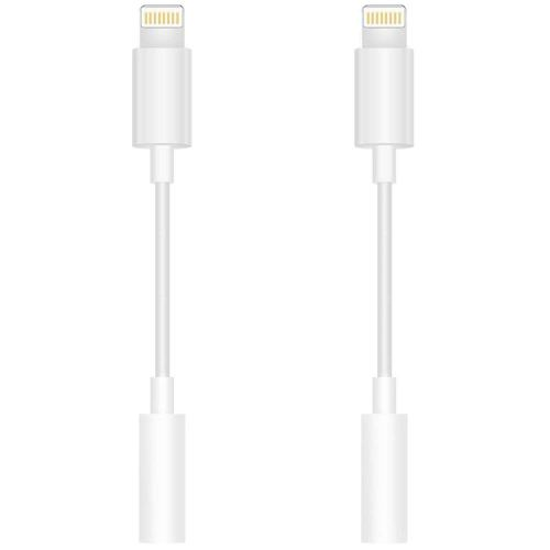 small resolution of 2 pack lighting to 3 5mm headphone jack adapter headphone adapter compatible phone x 10