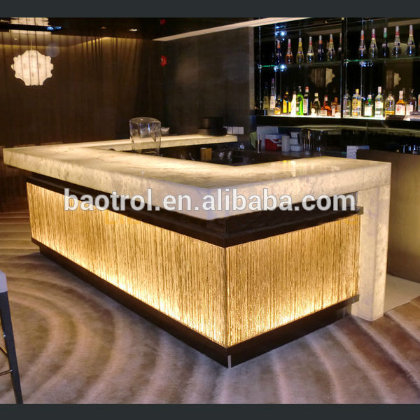 Modern Restaurant Bar Counter DesignIlluminated Led Bar