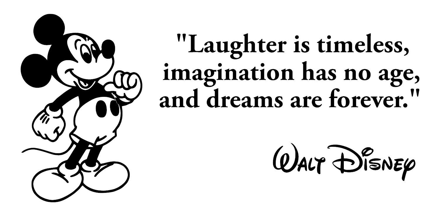 Buy Laughter is Timeless Wall Decal: Walt Disney Quotes