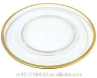 Gold Rimmed Cheap Dinner Plates Gold Rim Glass Charger