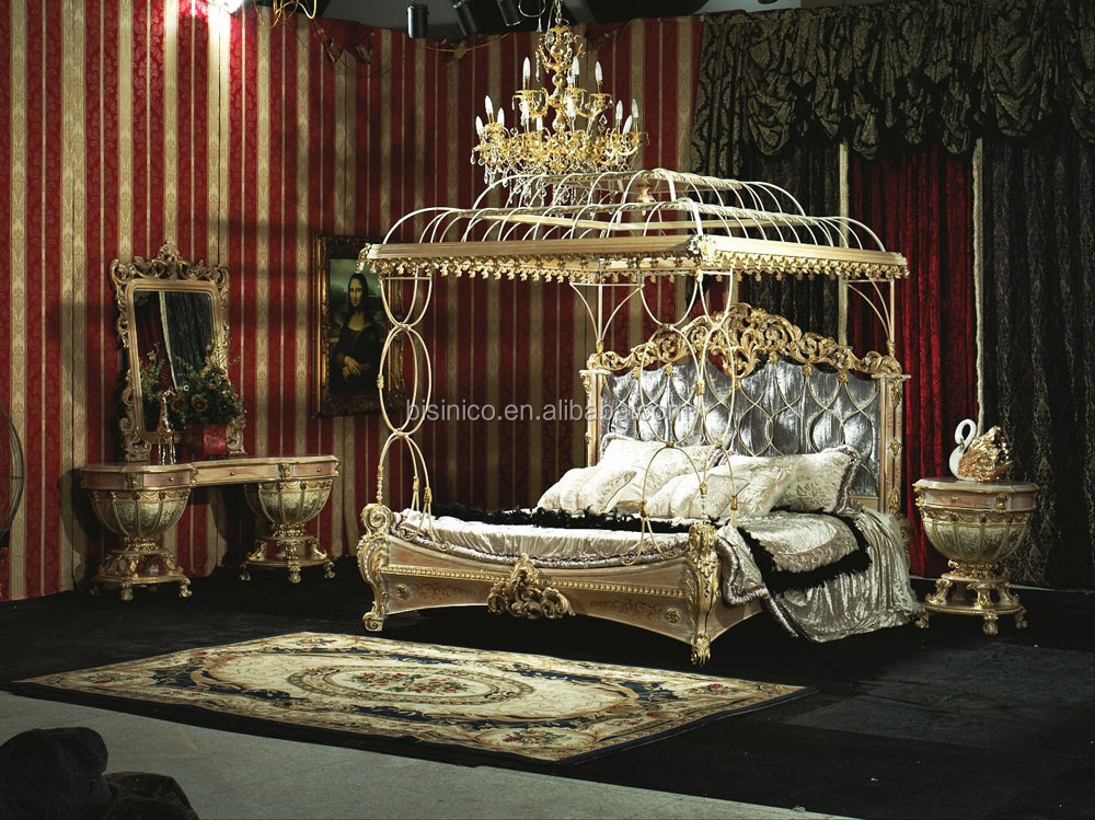Bisini Luxury FurnitureBedroom Furniture Set Italian Classic Luxury Furniture Rococo French