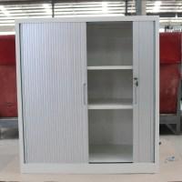2 Roller Shutter Door Office Filing Cabinet /gray Tambour