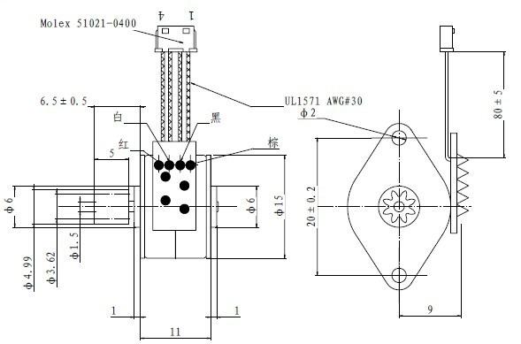 15mm Bipolar small stepper motor for Medical Equipment