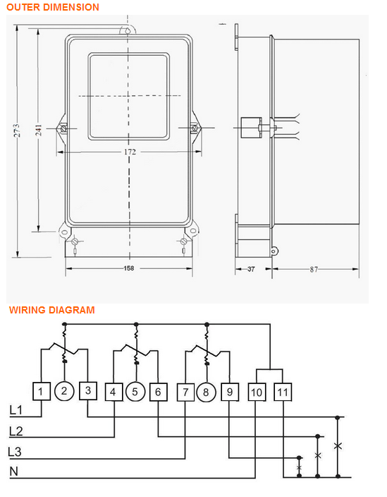 Wiring Diagram Kwh Meter