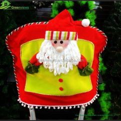 Crochet Christmas Chair Covers Office Chairs Lumbar Support Best Back Cover Cheap Spandex Snowman Reindeer Santa Claus Design For Xmas Bgsy1057