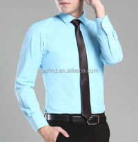 Cheap Mens Slim Fit Dress Long Sleeve Solid Color Shirts ...