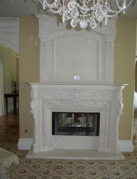 Beige Marble Fancy Fireplace French Style Fancy Fireplace ...