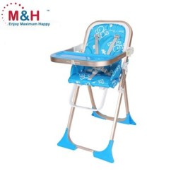 Portable Folding High Chair Black Glider Compact And Baby Light Highchair Fold