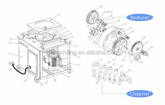 Bangcheng Gw40a Auto & Manual Control Auto Rebar Bender