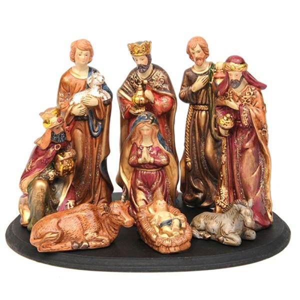 Holy Family Figurine Nativity Set Resin Religious Craft