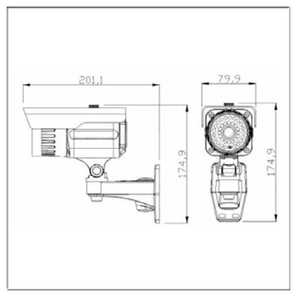 Outdoor Bullet Color Cctv Security Surveillance Camera