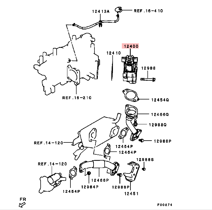 Egr Valve Manufacturers For Mitsubishi L200 Ka4t Kb4t