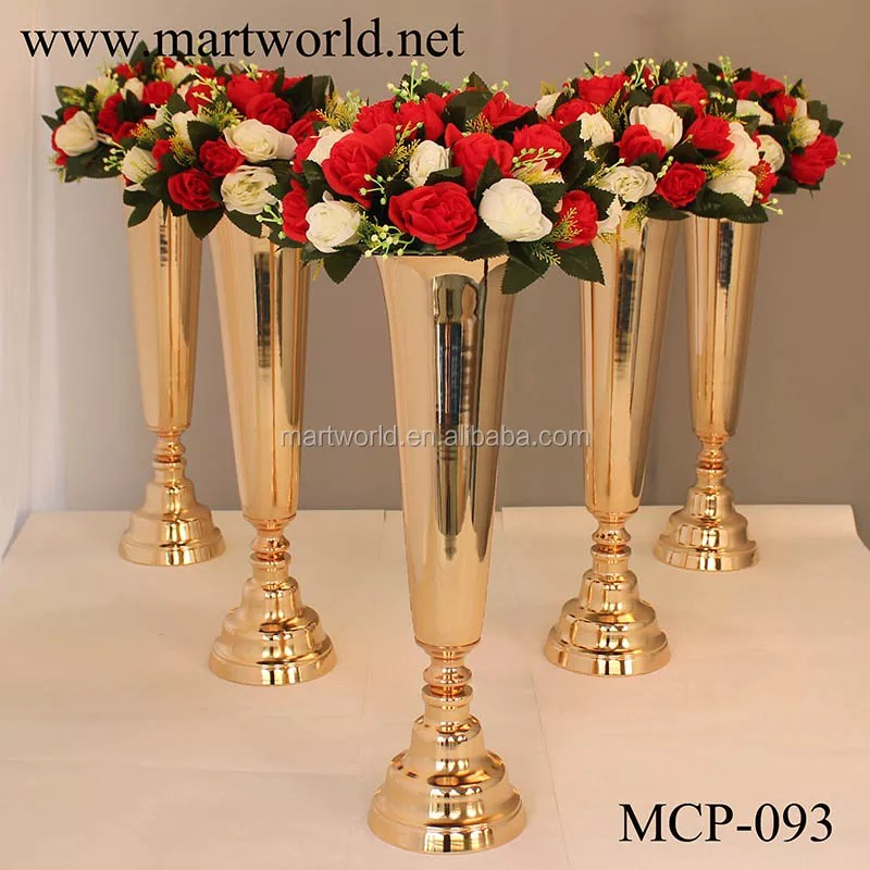 wholesale metal tall gold flower vases decorative table top wedding centerpieces for weddings table centerpiece decoration mcp 093 buy wedding