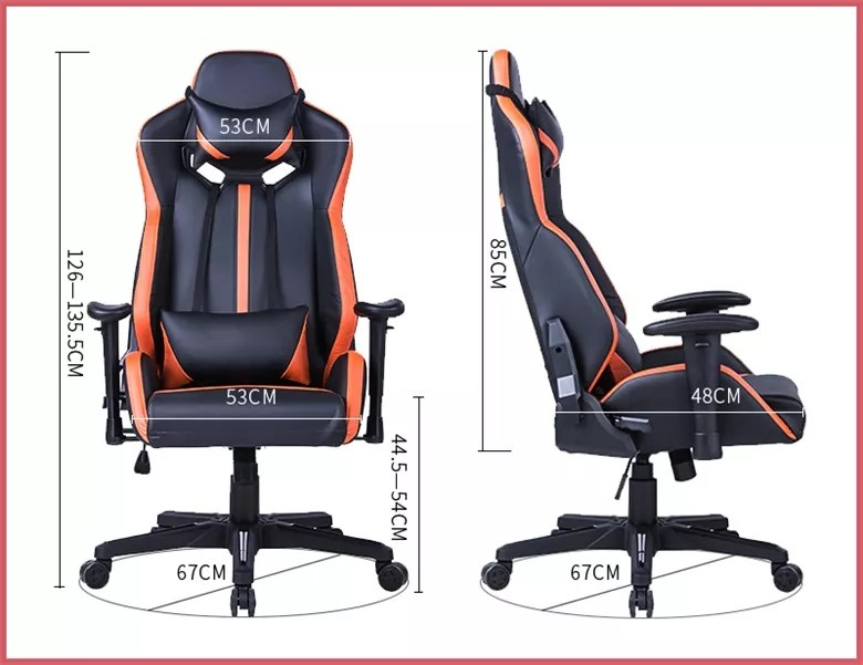 gaming pc chair fabric recliner chairs argos high back racing style computer ergonomic with adjustable headrest
