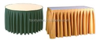 Wholesale Good price scuba banquet table skirting style ...