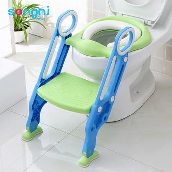potty chair with ladder wedding sash Çocuk tuvalet koltuk Çocuklar katlanır bebek lazımlık sandalye eğitim taşınabilir ...