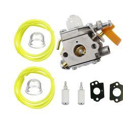 outgoings 308054034 308054014 308054028 carburetor with adjustment tool fuel line turn up kit for zama c1u h60d  [ 1200 x 1200 Pixel ]