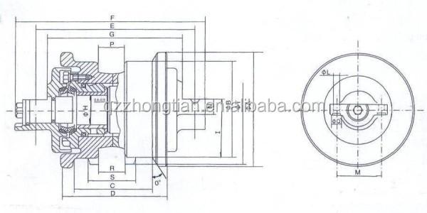 Daewoo Doosan Bulldozer Parts Spare Front Idler Roller
