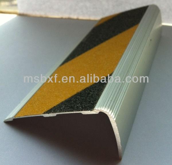 Aluminum Stair Nose Trim Metal Stair Nosing Rounded Stair Nosing | Non Slip Nosing For Carpeted Stairs | Brown Cinnamon | Stair Tread Nosing | Aa123 | Laminate Flooring | Slip Resistant