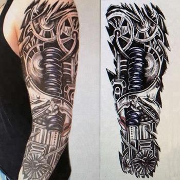 Venta Caliente Colorido Temporal De Brazo Completo Tatuaje Para Los
