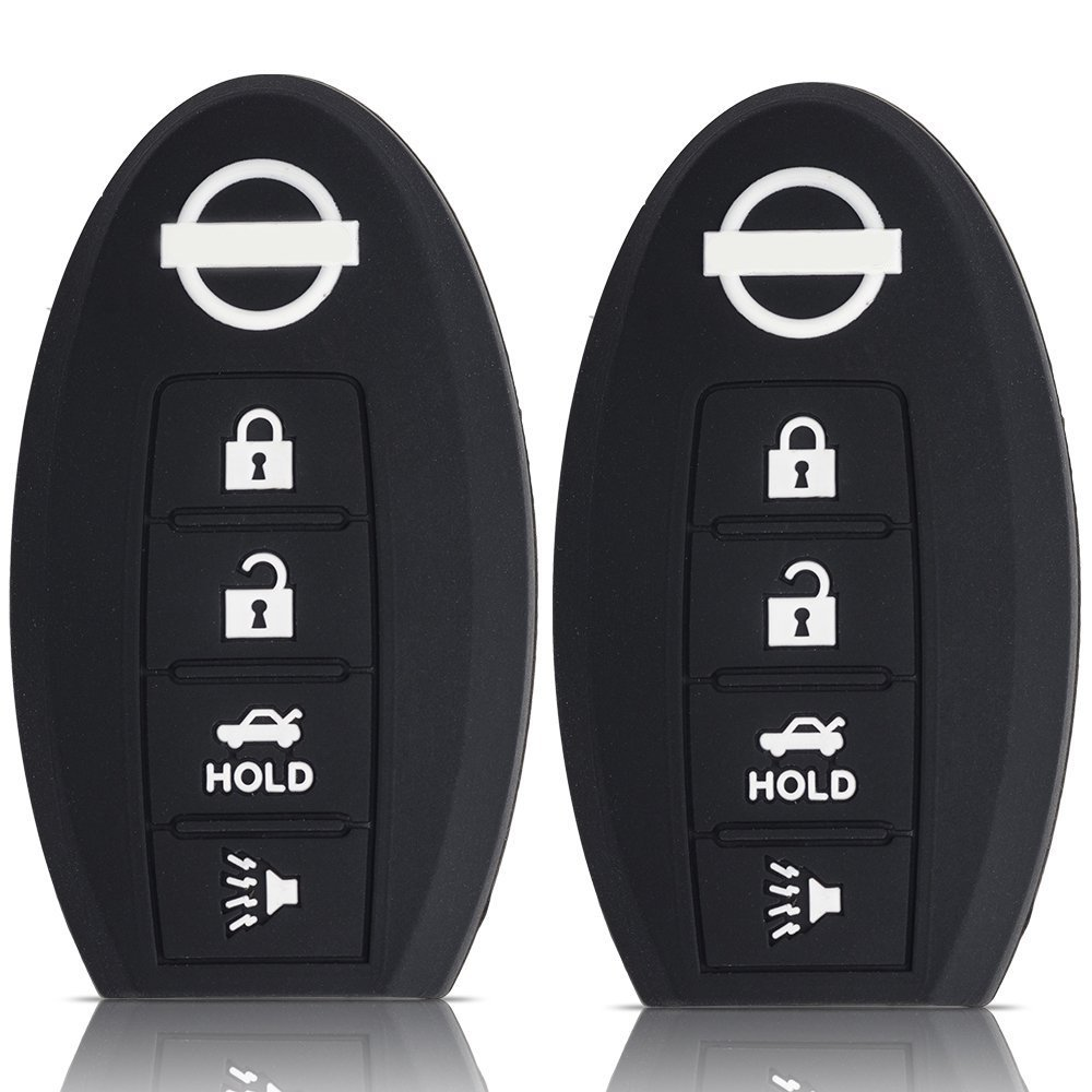 medium resolution of ouyfilters tm 2pcs 4 button black car key silicone cover case for nissan murano 350z 370z gt r murano sentra armada rogue altima maxima versa pathfinder