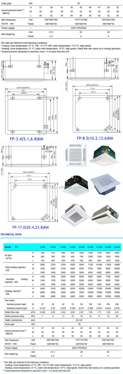 small resolution of cassette chiller water fan coil unit for heating cooling air conditioner 4 way ceiling