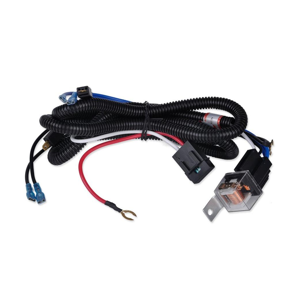 medium resolution of car parts car relay harness 12v 40a 4 pin harness socket with color labeled wires for