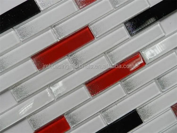 carrelage d interieur en verre de cristal blanc noir et rouge mosaique a paillettes de haute qualite buy tuile d interieur tuile de verre