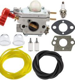 panari 753 06288 carburetor with fuel line filter for mtd troy bilt tb35ec tb2040xp [ 1000 x 1000 Pixel ]