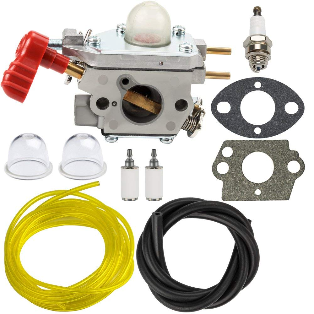 hight resolution of panari 753 06288 carburetor with fuel line filter for mtd troy bilt tb35ec tb2040xp