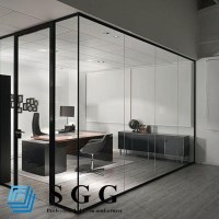 Soundproof Glass Partition,Clear Glass Wall,Toughened ...